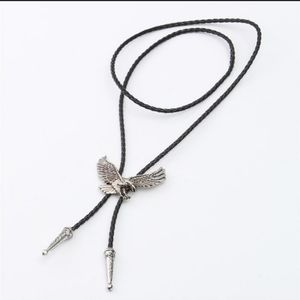 New Unisex Swooping Eagle Bolo Tie on Braided Cord